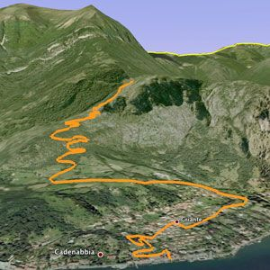The route to Monte Nava (above Como)
