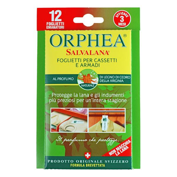 Protect your clothes naturally with Orphea Clothes Protector strips. Enjoy this fresh Virginian Cedarwood variety.
