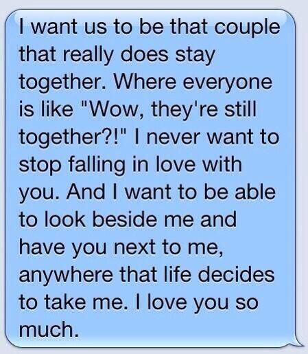 Awe :') makes me wanna cry! Probably the cutest thing I have ever read!!!