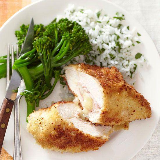 Preparing Chicken Cordon Bleu makes a simple meal even fancier! More fried chicken ideas: http://www.bhg.com/recipes/chicken/fried/fried-chicken-recipes/?socsrc=bhgpin101313chickencordonbleu&page=11