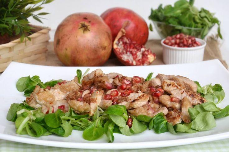 Straccetti di pollo al melograno, scopri la ricetta: http://www.misya.info/ricetta/straccetti-di-pollo-al-melograno.htm