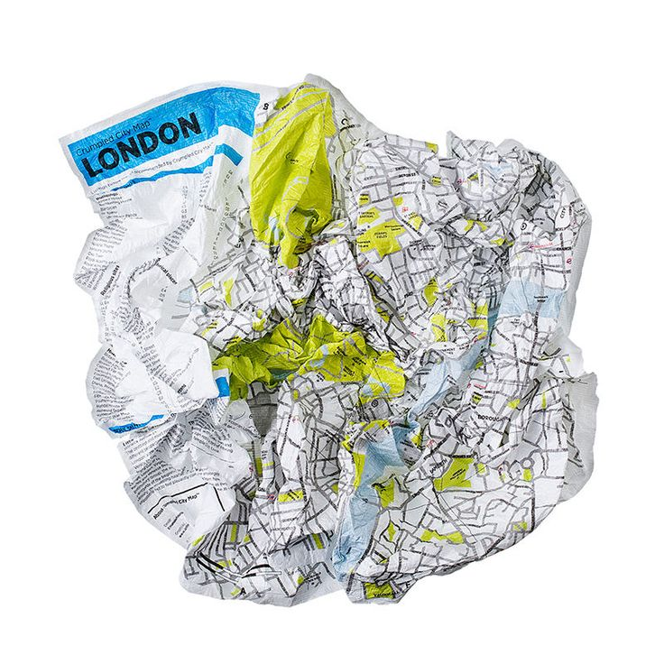 top3 by design - Palomar - crumpled city map london
