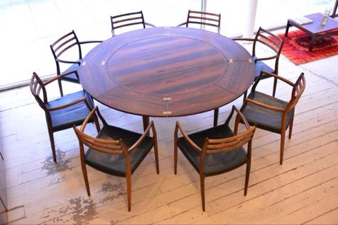 A lovely set of all original brazilian rosewood and black leather armchairs model 62 designed by niels møller. Available to buy as single chairs now online. http://bit.ly/1Ty8jwX