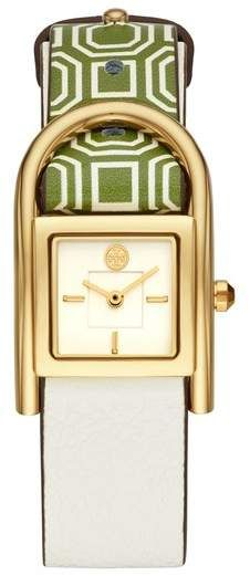 acca42855f4b Tory Burch Thayer Leather Strap Watch