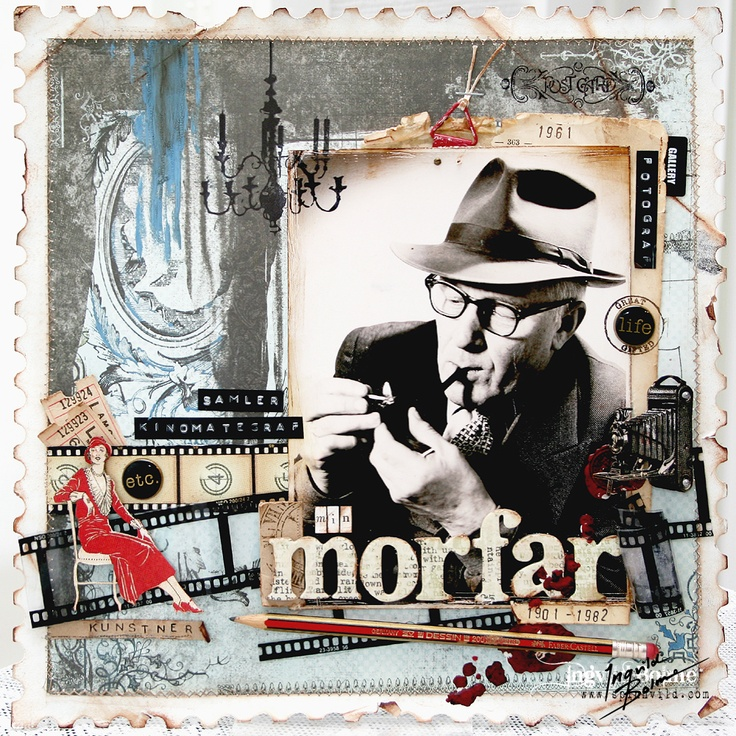 Min Morfar (My Grandfather) -layout made 2009