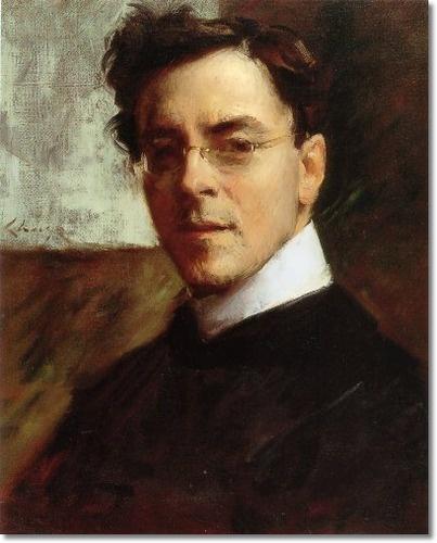 Portrait of Louis Betts | William Merritt Chase | oil on canvas.