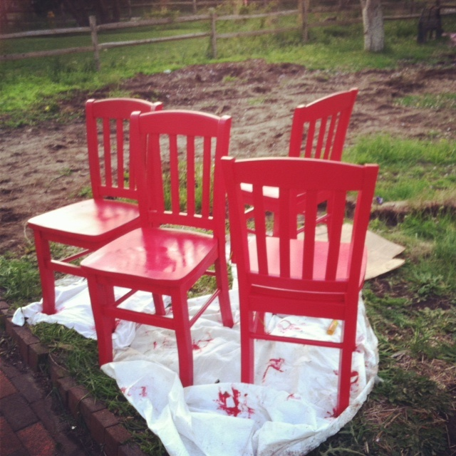 red chairs this is what I am doing to my chairs this week!!!!