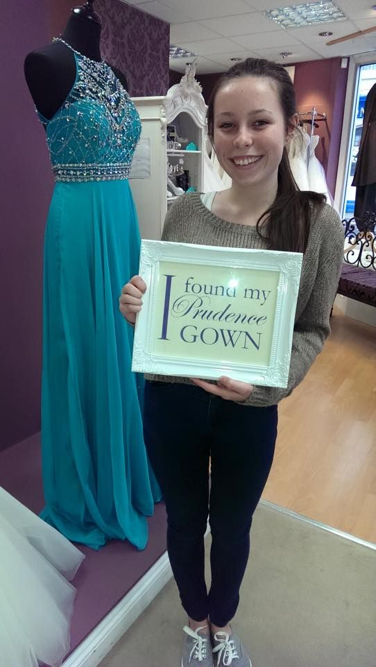 Laura found her #promdress for her #prom in our #Plymouth store today. YAY! #DressingYourDreams #PrudenceGowns