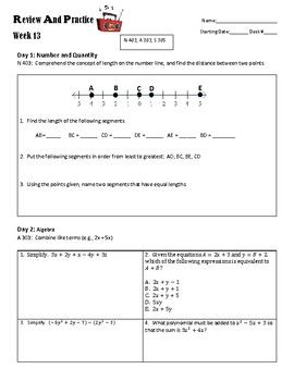 Are your students struggling to improve their ACT scores? Do they not know what to study to bring an improvement? This series of ACT Review and Practice worksheets will target specific ACT math standards in an effort to allow students to review and practice the skills that will be on the ACT test.