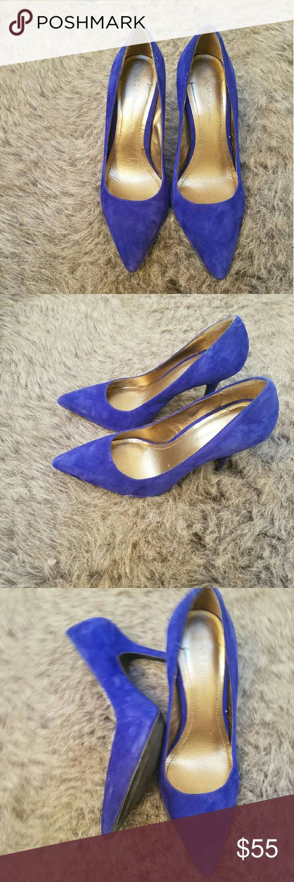 Blue Suede BCBG pumps Brand new beautiful suede BCBG pumps....only tried on around the house. Check out my other listing buy more and give a discount. BCBGeneration Shoes Heels
