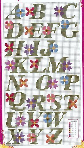 ponto cruz monograms | Gráfico p/ Ponto Cruz - Monogramas: