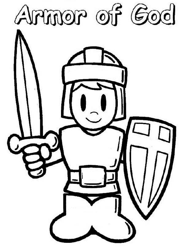 A Boy Wearing Armor Of God Coloring Page : Coloring Sun in