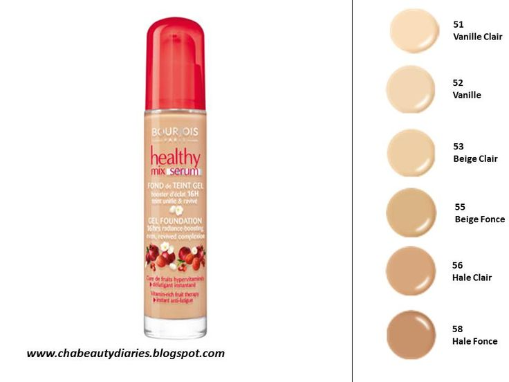 bourjois healthy mix foundation shades