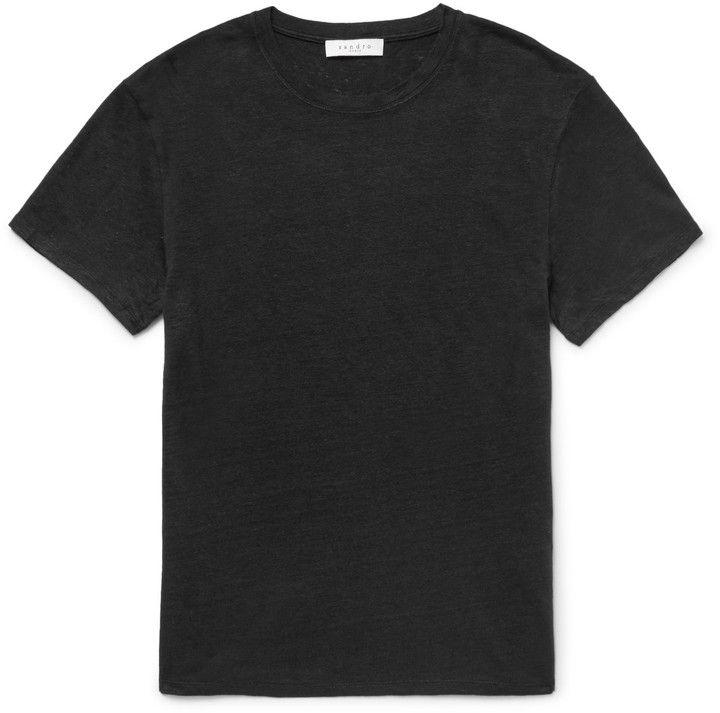Sandro Slim-Fit Slub Linen T-Shirt