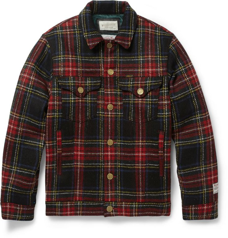 Japanese, American, Scottish Style, phew! what a mouthfull | Neighborhood - Plaid Wool Bomber Jacket | via MR PORTER