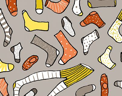 "Check out new work on my @Behance portfolio: ""Socks"" http://on.be.net/1JeERM0 #socks #illustration #fashion"