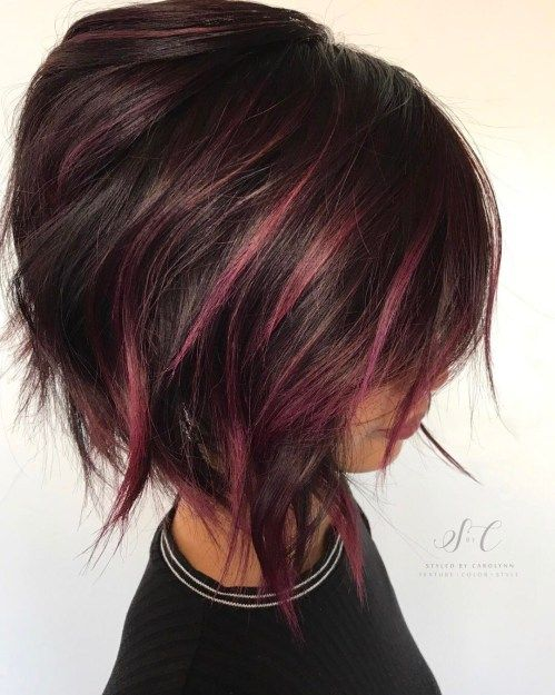 short burgundy hair ideas
