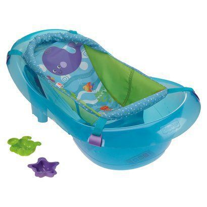 A bath tub a parent can be happy with!  It can be used for a long time and has great reviews.