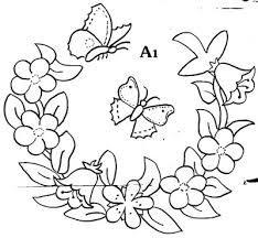 Resultado de imagem para riscos para bordar flores