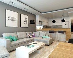 Aranżacje wnętrz - Kuchnia: Mieszkanie Rembertów 80 m2 - Średnia otwarta kuchnia w kształcie litery l, styl minimalistyczny - design me too. Przeglądaj, dodawaj i zapisuj najlepsze zdjęcia, pomysły i inspiracje designerskie. W bazie mamy już prawie milion fotografii!