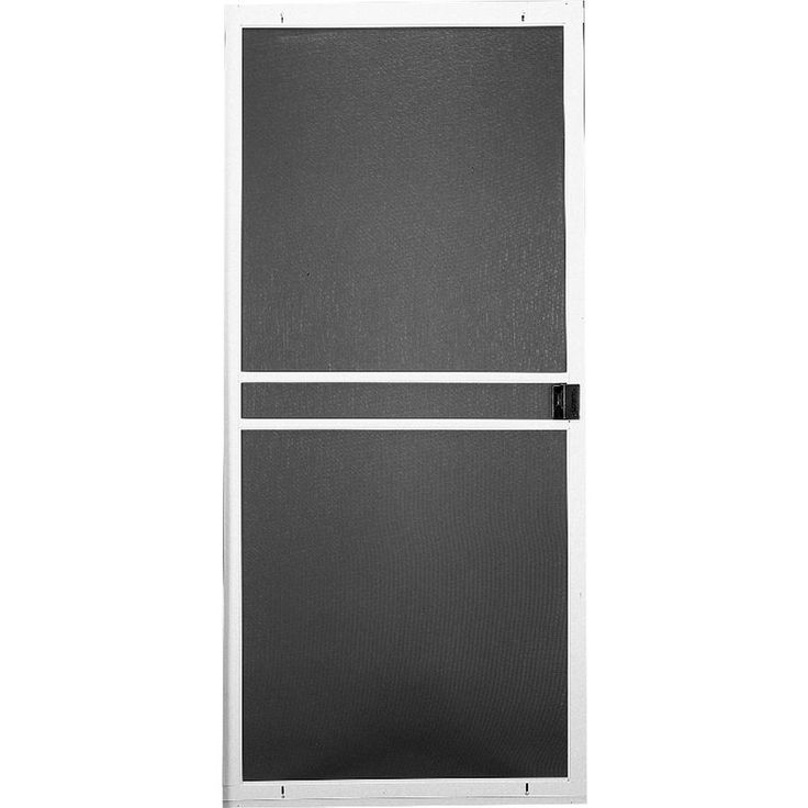 Shop RITESCREEN White Steel Sliding Screen Door (Common: 30-in x 80-in; Actual: 30-in x 80.125-in) at Lowes.com