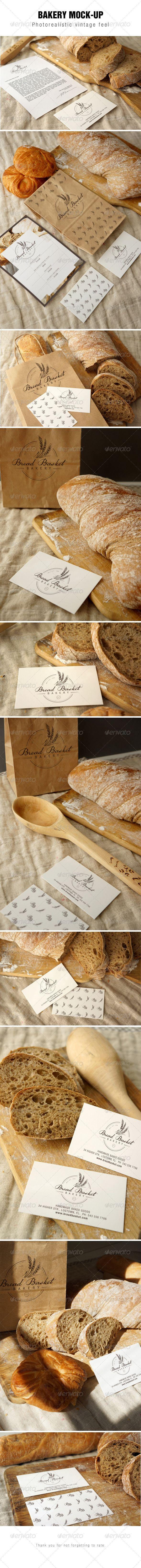 Bakery Branding Mockup (Stationery) combo