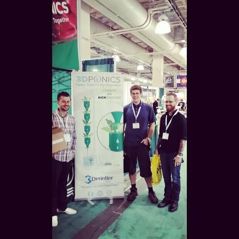 The 3Dponics guys at the Indoor Garden Expo in Boston Oct. 18-19, 2014. #indoorgarden #expo