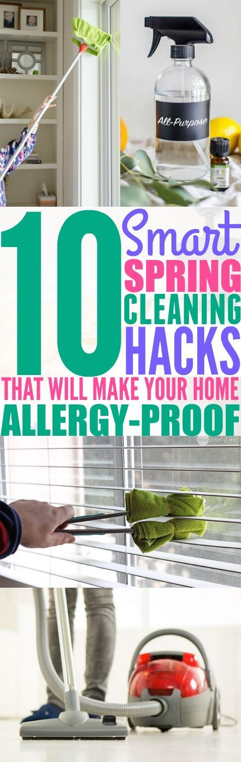 Ever since I started using these 10 spring cleaning hacks in my home, my allergies have not been a problem! I'm so happy that I found these tips! If you suffer from allergies in the spring, then you need to try these cleaning tips!