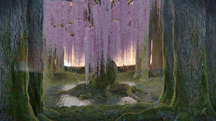 A beautiful digital print you can buy on Etsy to decorate your home. Forest   Wisteria Tree   Nature   Fine Art Digital Print   Decoration by DanielandHolly on Etsy