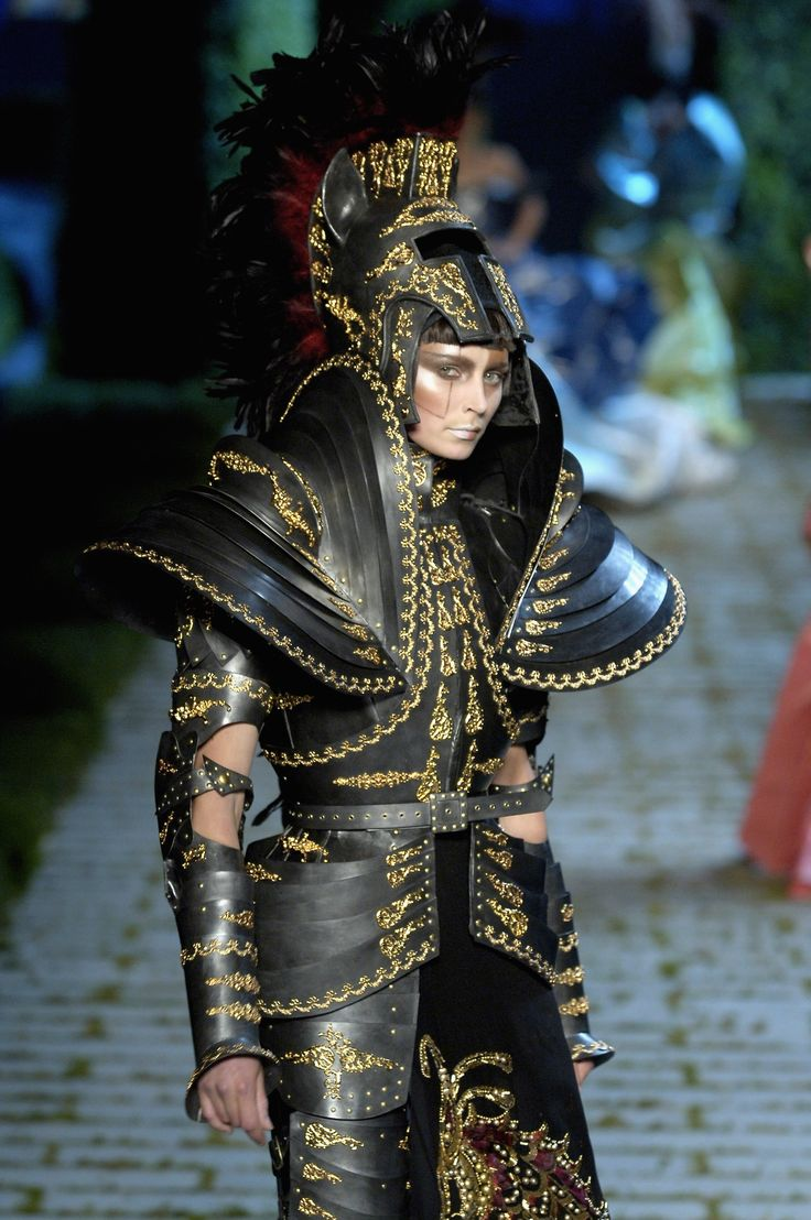 John Galliano for Dior, ensemble with articulated armor pieces, Fall 2006 Couture.