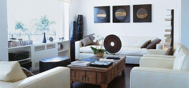 Pareti e divani bianchi - Come abbinare il divano alle pareti per un ambiente dallo stile ricercato.