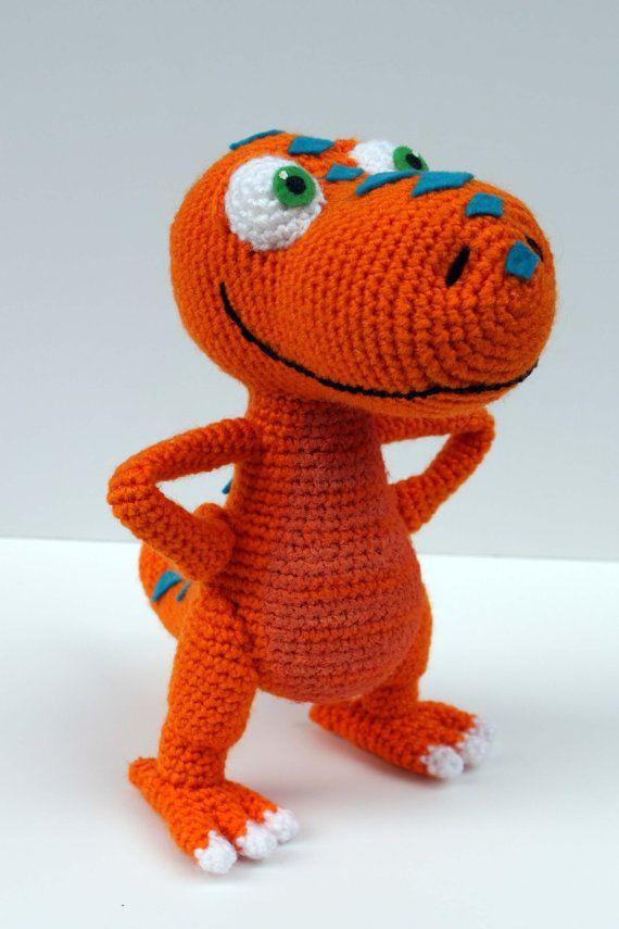 Crochet Pattern Buddy the TRex Dinosaur Train di MilesofCrochet