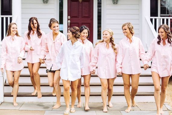 Bridesmaids Gifts Oversized Mens Shirts  by SweetThoughtBoutique