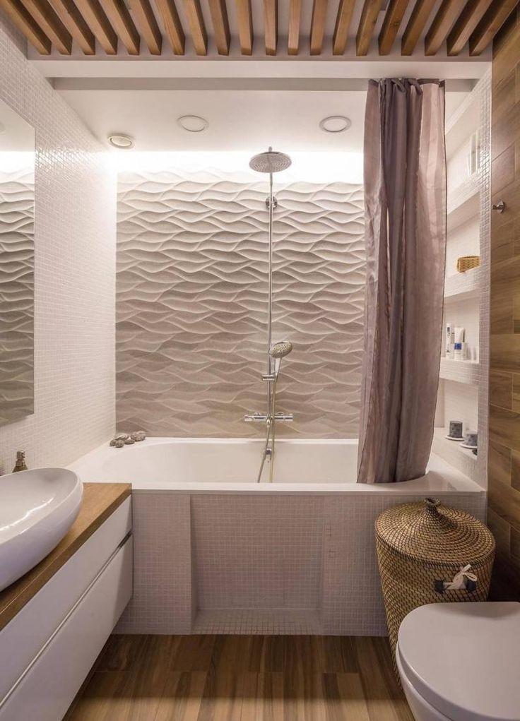 17 meilleures id es propos de salle de bains lambris sur for Revetement mural bois salle de bain