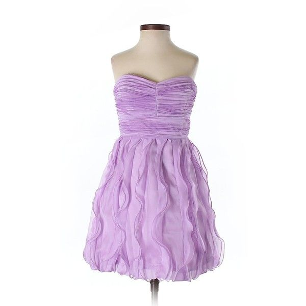 Max and Cleo  Cocktail Dress ($32) ❤ liked on Polyvore featuring dresses, light purple, lavender purple dress, max and cleo dresses, lavender dress, max and cleo cocktail dresses and lavender cocktail dress