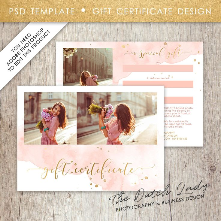 41 Best Photography Gift Certificate Cards Images On Pinterest
