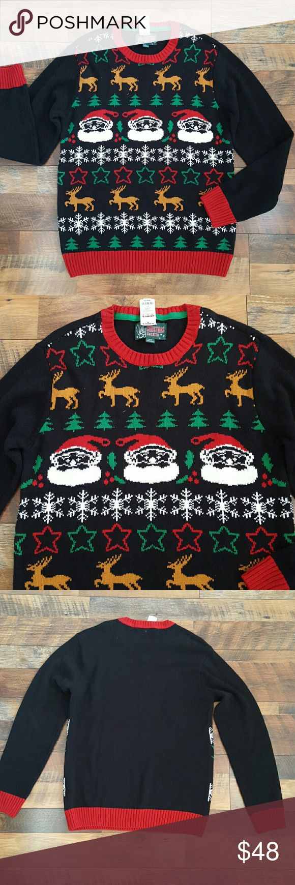 Men's Christmas Ugly Sweater NWT Mens Christmas Ugly Sweater perfect for that upcoming Christmas Ugly Sweater contest party. Brand new with tags.  60% Cotton  40% Acrylic  Machine wash cold ugly Christmas sweater  Sweaters Crewneck