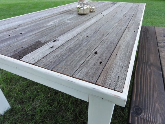 Reclaimed Barnwood Dining Table And Bench Outdoor By JHDesignCo