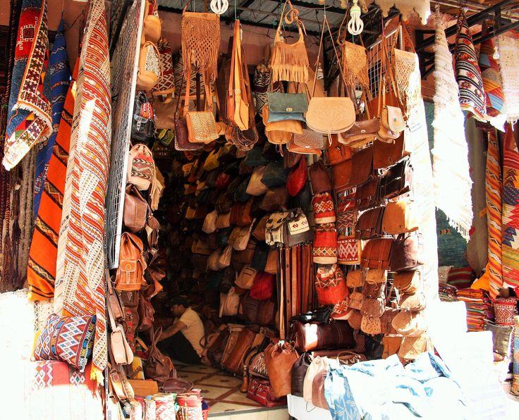 Bags and fabrics in #Marrakech medina <3 #ethnic #boho #handmade