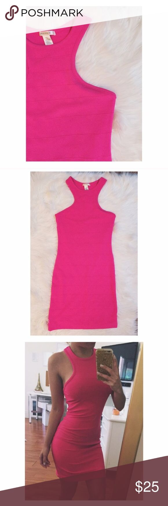 FINAL SALE  Pink Bodycon Bandage Dress Brand new with no tags! Bodycon style that hugs your curves✨ Tagging Nasty Gal for exposure !    • No Trade  • Make An Offer • Ask about bundling   Please do not hesitate to ask questions.  Nasty Gal Dresses Mini