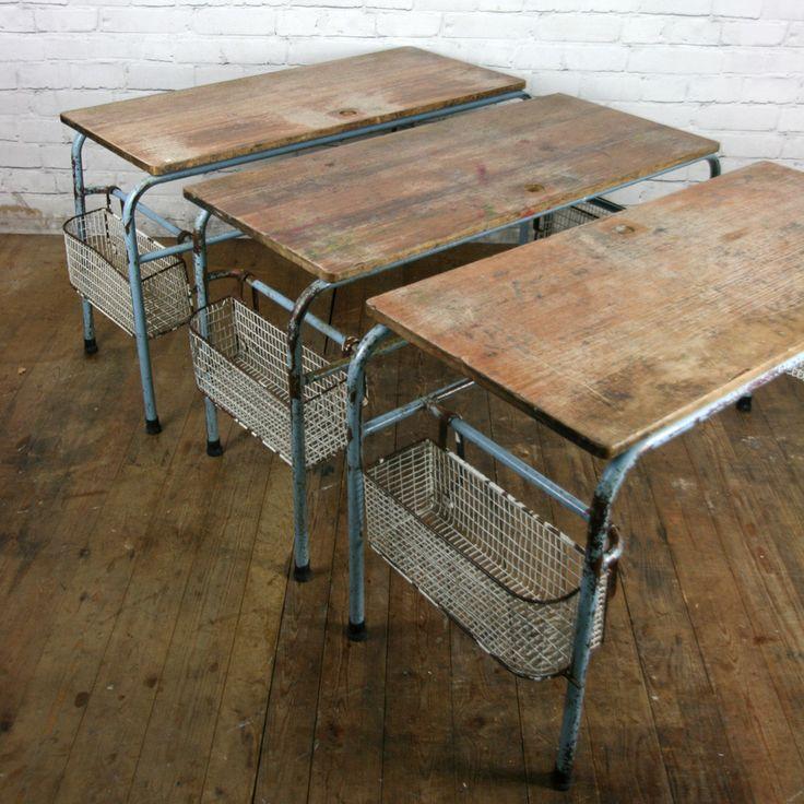 industrial antique furniture. Vintage Industrial School Desk Shop/Retail Display Table Antique Furniture I