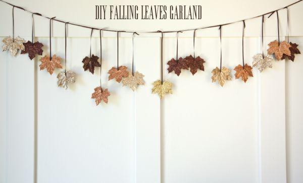 DIY Falling Leaves Garland - House of Jade Interiors Blog