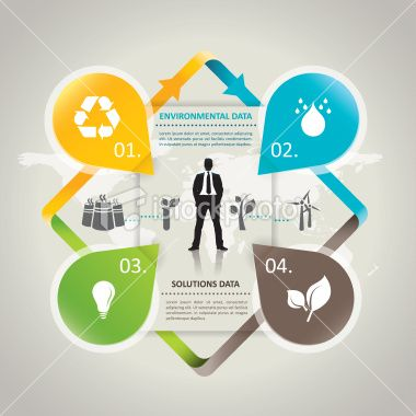 Abstract environmental infographic Royalty Free Stock Vector Art Illustration