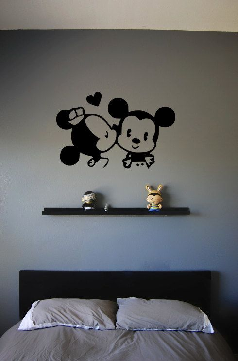 Hey, I found this really awesome Etsy listing at https://www.etsy.com/listing/120709364/baby-minnie-and-mickey-wall-decal