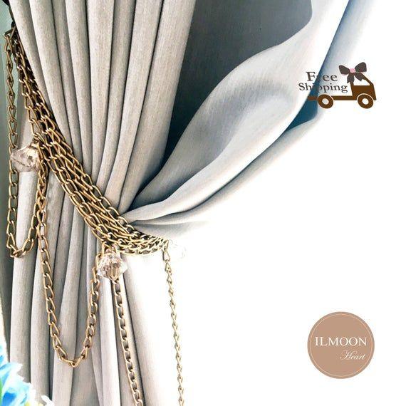 Pair X2 Vintage Curtain Tie Backs Glam Curtain Tiebacks