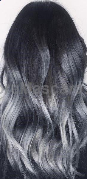 black to dark gray ombre
