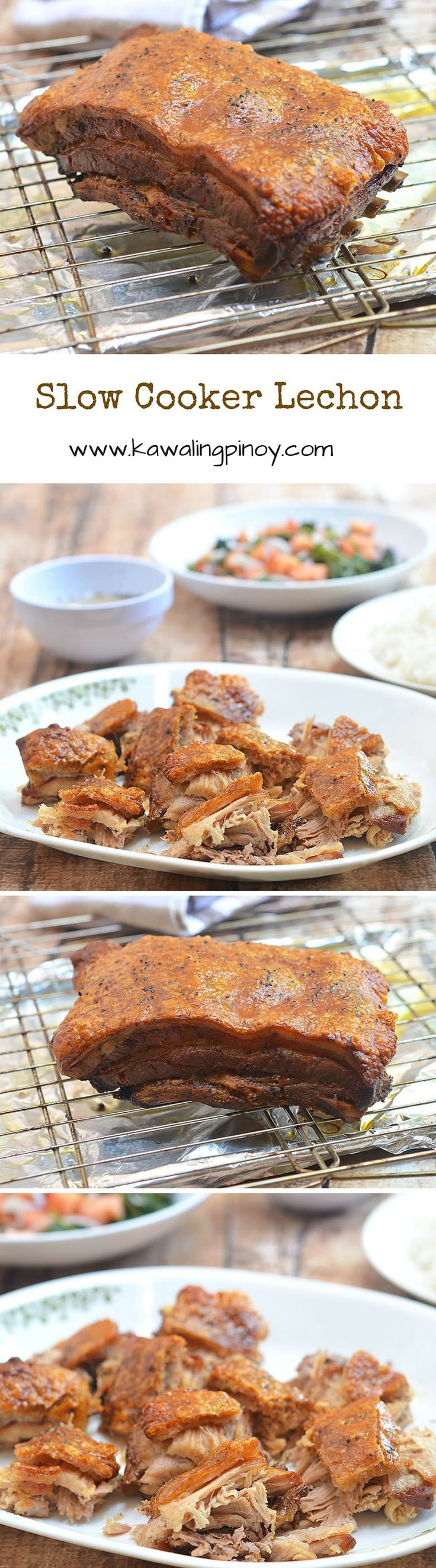 Moist and juicy on the inside, and golden and crunchy on the outside, this Slow Cooker Lechon is done in the crockpot!