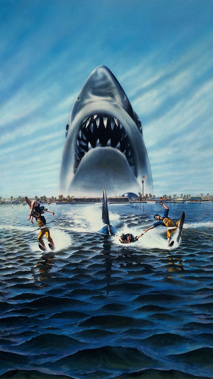 Jaws 3D (1983) Phone Wallpaper Jaws 3, Horror movie