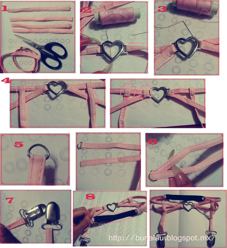 Awesome pastel goth heart garter diy tutorial ^^