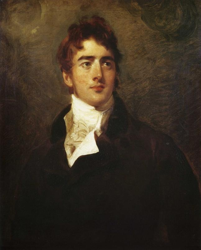 The Hon. William Lamb, MP (Later Lord Melbourne) (1779-1848), by Sir Thomas Lawrence, c. 1805. Private collection